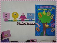 Pedagogia e Serviço Social: Formas geométricas em eva