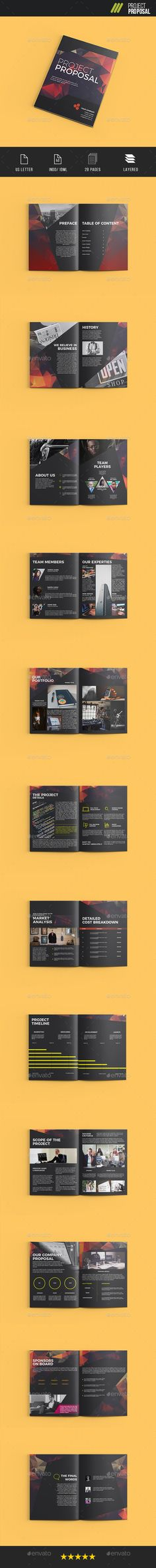 Project Proposal Template InDesign INDD