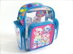 Lisa Frank Mini Clear Backpack by RIDETHENOWAVE on Etsy, $42.00