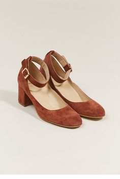 DANI ANKLE STRAP HEEL, RUST BY ATP