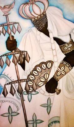 characteristics of oxala Epa Baba, Orishas Yoruba, Spiritual Images, Magic Art, Surreal Art, Beautiful Artwork, Black Girl Magic, Black Art, Black History