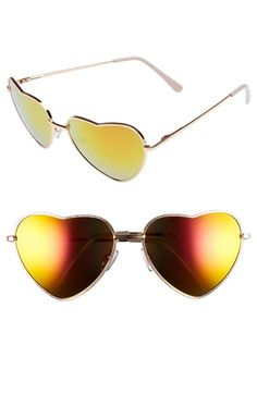 BP. Heart Shaped 58mm Sunglasses available at #Nordstrom