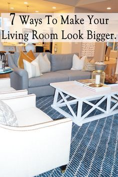 1. Scale the furniture to fit the size of the room and don't block walking pathways. With furniture and accessories blocking the view into a room and to open spaces, a room will look cramped. By moving furniture out and away from walkways, you'll open up the space and make …