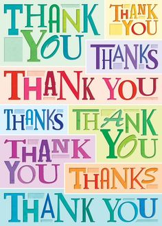 Multi Fonts Thank You Card. Find at DesignDesign.us