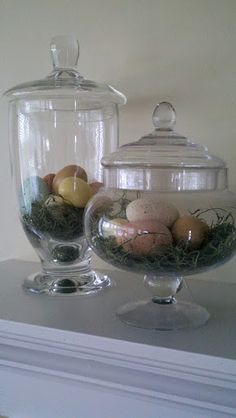 BHG inspiration for Easter mantel.