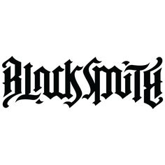 Blacksmith Ambigram by John Langdon