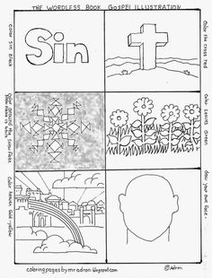 coloring pages for kids by mr adron wordless book gospel coloring page free