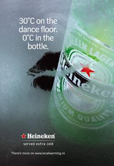 Heineken - 30° C on the dance floor 0° C in the bottle - 2007 #Advert