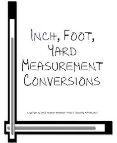 Inch, Foot, Yard Measurement Conversions
