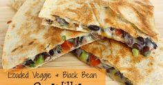 The Garden Grazer: Loaded Veggie & Black Bean Quesadillas