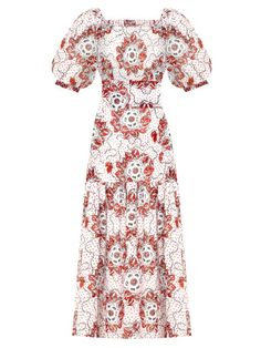 Women's Just In | This Month | The latest Luxury Designer Fashion from MATCHESFASHION.COM UK Susie Cave, The Vampires Wife, Poplin Dress, The Guardian, Printed Cotton, Women Wear, Balloon Sleeves, Skirts, Luxury Designer
