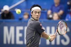 Kei Nishikori rallied from a set down to defeat Ryan Harrison.