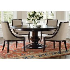Sienna Round Dining Table and Chairs by Brownstone Furniture