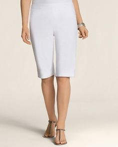 Chico's So Slimming By Chico's Slim Stretch Pull on Short #chicos