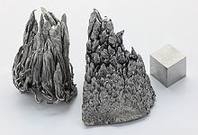 Yttrium is a chemical element with symbol Y and atomic #39. MP 1526°C / BP 2730°C / SG 4.472. It is a silvery-metallic transition metal chemically similar to the lanthanides and is often classified as a rare earth element. In 1787, Carl Arrhenius found a new mineral near Ytterby in Sweden and named it ytterbite, after the village. Elemental yttrium was first isolated in 1828. Its most important use is in making phosphors used in television set displays. It has no known biological role.