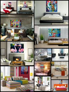 here my paintings are seen  amougst different interiors.
