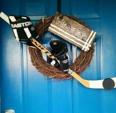 Oh my gosh I need one! Caps Hockey, Hockey Teams, Hockey Players, Hockey Decor, Baseball Crafts, Hockey Girls, Hockey Mom, Hockey Stuff, Hockey Senior Pictures