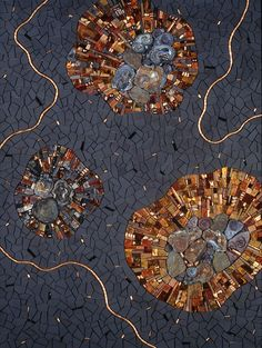 Meltdown 2006 by Sonia King, glass, ceramic, slate, chalcedony, pearls, shell, copper, bone, gold, smalti