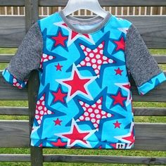 Tshirt med stjärnor på #syrradesign