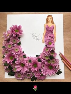 When #arts meet #fashion  #creativearts #flowers #dress #design
