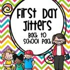 First Day of School Activities - This 41 page unit is centered around the mentor text First Day Jitters book by...Looks Great!!!