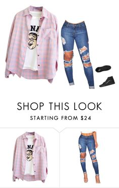 """""""Untitled #1398"""" by kelly213 ❤ liked on Polyvore featuring Vans"""