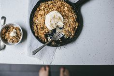 Browned Butter, Caramel & Coconut Skillet Apple Crumble--I will convert this to gluten and dairy free for my family.