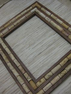 Sustainable DIY Wine Cork Frame Kit made from by TheWoodenBee