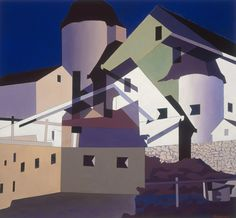 """""""Photography is nature seen from the eyes outward, painting from the eyes inward"""" C Sheeler Charles Sheeler On Shaker Theme Tempera on paper 1956 Charles Sheeler Composition around W… Charles Sheeler, Charles Demuth, Pop Art, Munier, Graffiti, National Gallery Of Art, Urban Landscape, American Artists, Urban Art"""