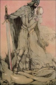 """""""Lohengrin"""" (1913), illustrated by Willy Pogány (Spirit of the Ages)"""