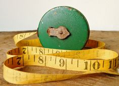 Walsco Mechanics Pal Tape Measure, 25 Feet, Cloth Tape Measure, 1950s-60s, Made by Walsco Milford Connecticut, Retro Tool, Vintage, by LavishMaidenVintage on Etsy
