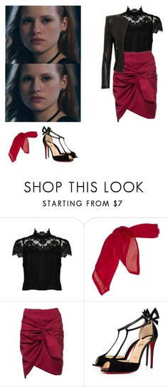 """""""Cheryl Blossom - Riverdale"""" by shadyannon ❤ liked on Polyvore featuring Alice + Olivia and Christian Louboutin"""