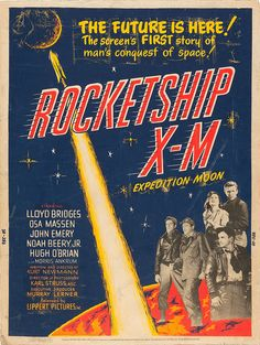 Rocketship X-M (Lippert, 1950) #graphicdesign #vintage #popculture #film #poster