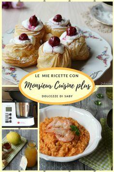 Ricette con monsieur cuisine plus (il robot tuttofare della Lidl) Robot Lidl, Pasta, Italian Desserts, Cooking Gadgets, Panna Cotta, Slow Cooker, Food And Drink, Favorite Recipes, Breakfast