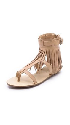 abd7d5af1 Loeffler Randall Sienna Fringe Flat Sandals Fringe Sandals