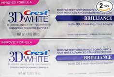 Crest 3D White Brilliance Toothpaste Best Whitening Toothpaste, Teeth Whitening Remedies, Natural Teeth Whitening, Crest 3d White, Crests, Natural Home Remedies, Enamel, Mascara, Skin Care