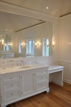 Wood framed mirror and decorative trim - LOVE