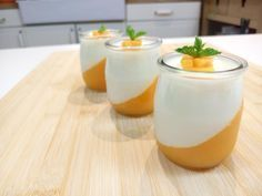 panna cotta Panna Cotta, Cantaloupe, Brunch, Pudding, Sweets, Make It Yourself, Cooking, Ethnic Recipes, Desserts