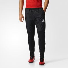 Beat the cold. Stay focused on training. These men's soccer pants use climawarm™ to keep you warm on the field. Ankle zips allow you to easily get them on or off over your cleats. A slim fit and 3-Stripes detail offer classic style.