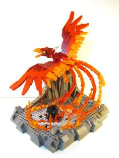 Ember the Phoenix: A LEGO® creation by Alan C : MOCpages.com