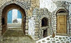 Image result for santorini art Santorini, Greece, Paintings, Image, Home Decor, Art, Greece Country, Art Background, Decoration Home