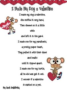 valentines day poems elementary school