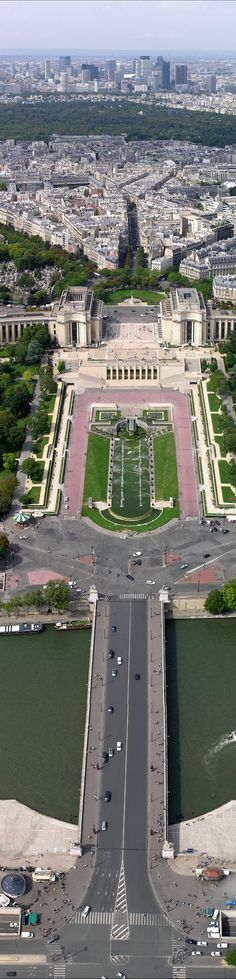 Towards the Trocadero from the Eiffel Tower, Paris, France...