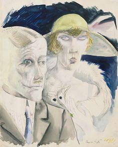 Otto Dix / Cafe Couple / 1921 / MoMa / A bit disturbing!