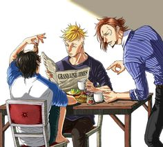 Ace, Thatch & Marco - One Piece