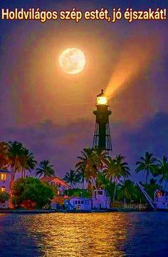 Szép estét, jó éjszakát Rosas Gif, Retro Hits, Moon Photography, Bright Lights, Windmill, Moonlight, Horses, Black And White, Lighting