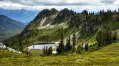 Pocket Lake, perched high in the Mt. Baker-Snoqualmie National Forest