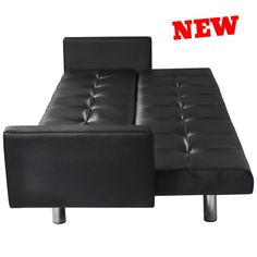 Sofa Bed Armrest Leather Recliner Convertible Sleeper Couch Lounge Furniture NEW