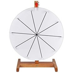 "Amazon.com : 15"" 10-slot Tabletop White Color Dry Erase Clicker Prize Wheel Mark Wooden Stand DIY Carnival Crowd Drawing Game : Sports & Outdoors"