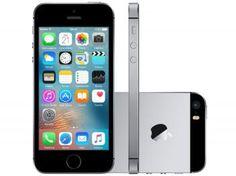 "iPhone SE Apple 64GB Cinza Espacial 4G Tela 4"" - Retina Câm. 12MP iOS 9 Proc. Chip A9 Touch ID"